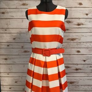 Madison Leigh stripe fit and flare dress size 6
